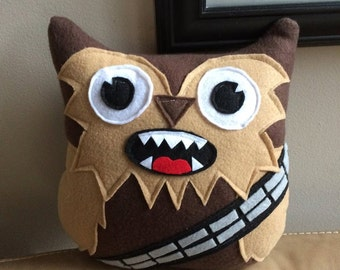 Chewbacca Owl Plushie- Inspired by Star Wars- Chewbacca owl- Star Wars Plush Toys