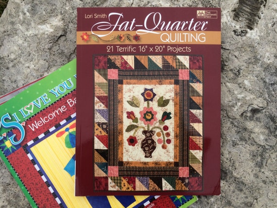 Book Cover Sewing Quarter ~ Fat quarter quilting soft cover book lori smith sewing