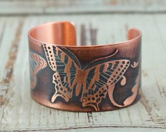 Butterfly Handmade Copper Cuff Bracelet