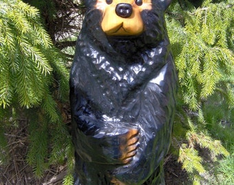 Chainsaw Carved Wood Carved Black Bear