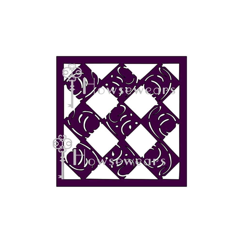 craft stencilquotmodern diamondsquotstensilgelli174 plate