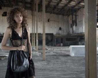 Leather Bucket bag | women bag |  Black Soft Leather bucket Bag |  Sac Bag | Cross Body Purse | leather purse crossbody |Shoulder Bag