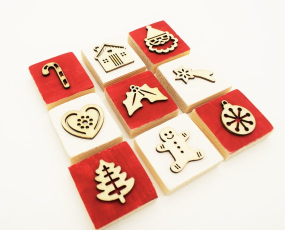 Christmas Stamp Set - perfect for seasonal crafting, cardmaking, scrapbooking. Get festive and creative.