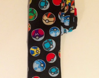 Pokemon Pokeball Nintendo Necktie