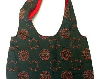 Supernatural Purse, Angel and Demon Trap, reversible, fully padded