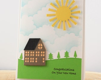New Home Congratulations Card, Realtor Card to New Home Buyer, Housewarming card