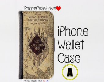 iPhone 6 Case - iPhone 6 Wallet Case - iphone 6 - iPhone 6 Wallet - Harry Potter iphone 6 case A - Marauder Map iphone 6 case