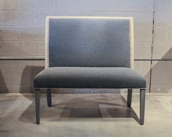 Upholstered Monaco Bench with Tapered Leg