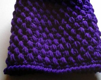 Deep purple slouch hat