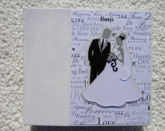 6x6 Black and White Wedding Scrapbook Photo Album