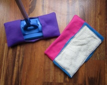 Reusable mop/duster set in pink, purple and blue