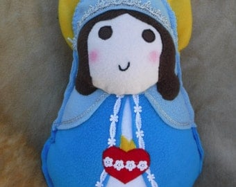 Saint Doll Virgin Mary Immaculate Heart Soft Catholic Religious Toy