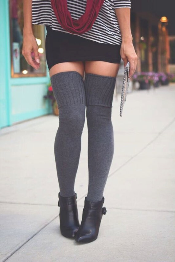 the knee socks thigh high skirt socks