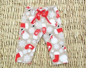 SALE!! Doll Pajamas, 18 Inch Doll Pajamas, Doll Clothes, 18 Inch Doll Clothes, Sleepwear, Snowman Pajama Bottoms