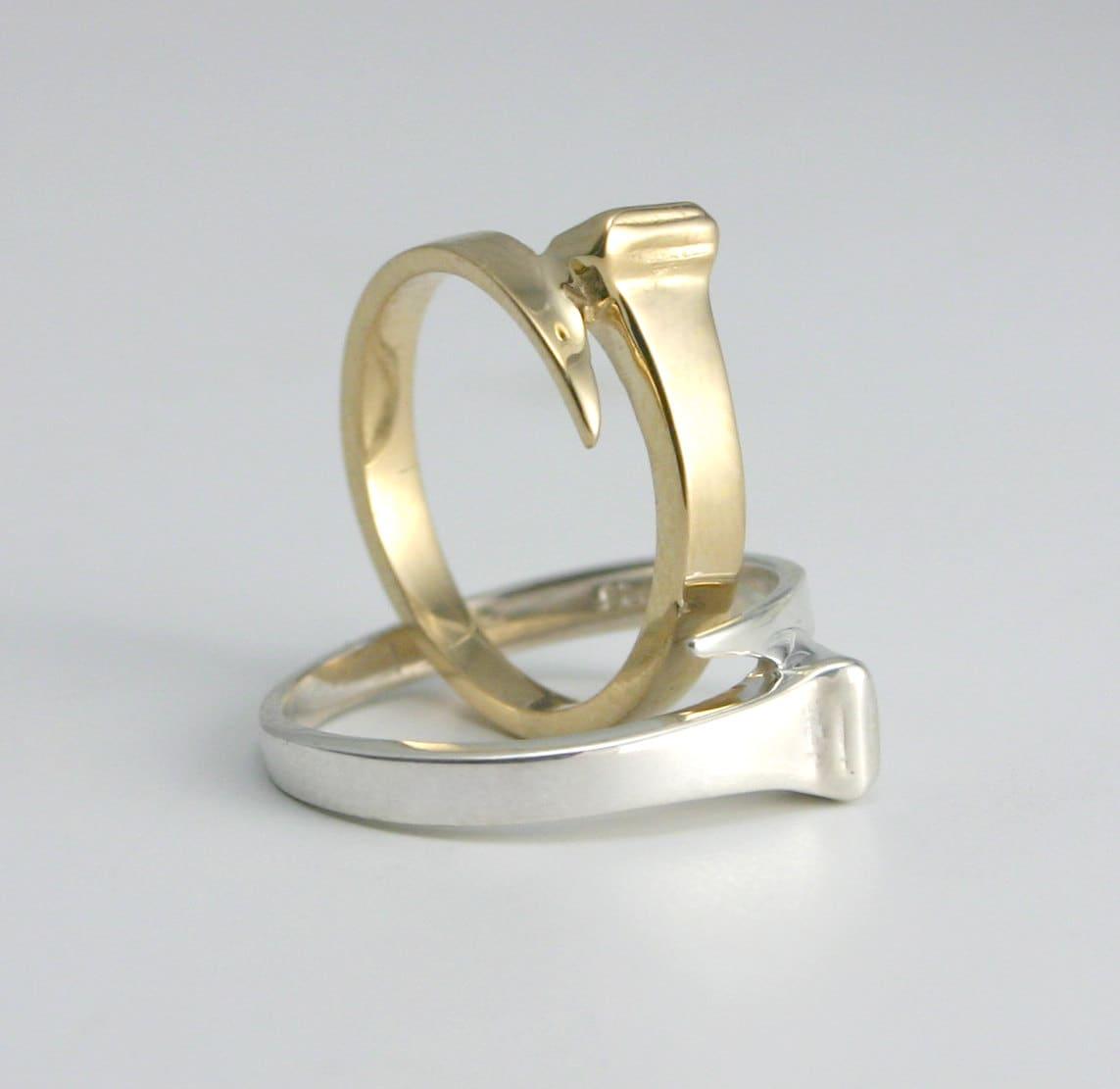 equestrian horseshoe nail adjustable ring horseshoe jewelry