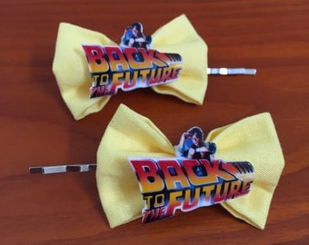 Back to the Future Bow Bobby Pins-Set of 2