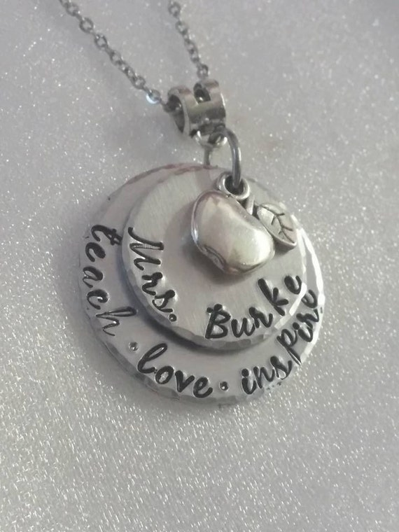 Teacher Appreciation Gift - Favorite Teacher - Personalized Teacher Gift - Gifts for Teachers - Teacher Necklace - Unique Gift For Teacher