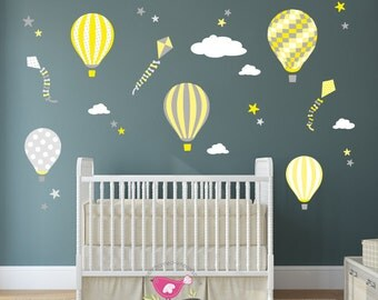 Yellow Gray Nursery Etsy