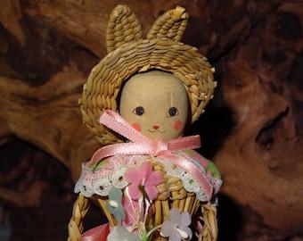 Straw Bunny Doll / Straw Doll / Bunny Doll