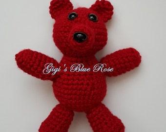 Crochet 7-inch Teddy Bear/Photo Prop/Baby Shower Gift/Ready to Ship
