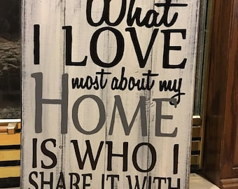 What I love most. Hand painted pallet sign