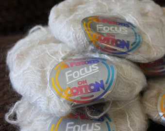 Vintage Patons Yarn, Focus on Cotton, Vintage Courtelle Yarn, Mohair Yarn, Vintage Yarn, Yarn Blends