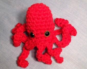 Adorable mini octopus toy cotton Crochet steampunk