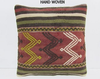 red pillows red pillow cover red pillow case red cushion cover red throw pillow red decorative pillow red pillowcase kilim pillow sham D1573