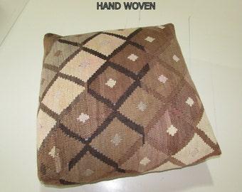 Kilim Floor Pillow Knit Pouf Decorative By Decolickilimpillows