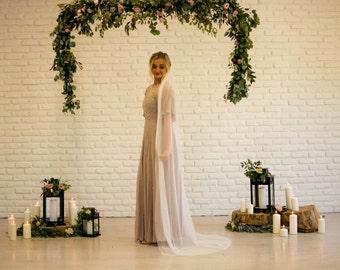 Veil English Net Tulle Wedding Bridal Veil Chapel Length 7ft