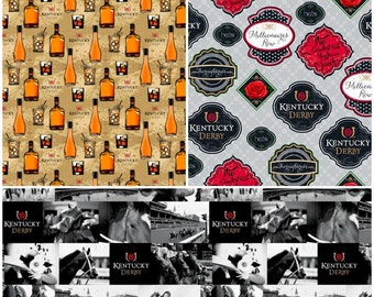 Kentucky Derby Cotton Fabric by Springs Creative! [Choose Your Cut Size]