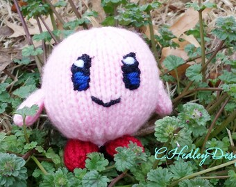 Mini Knitted Kirby Plush