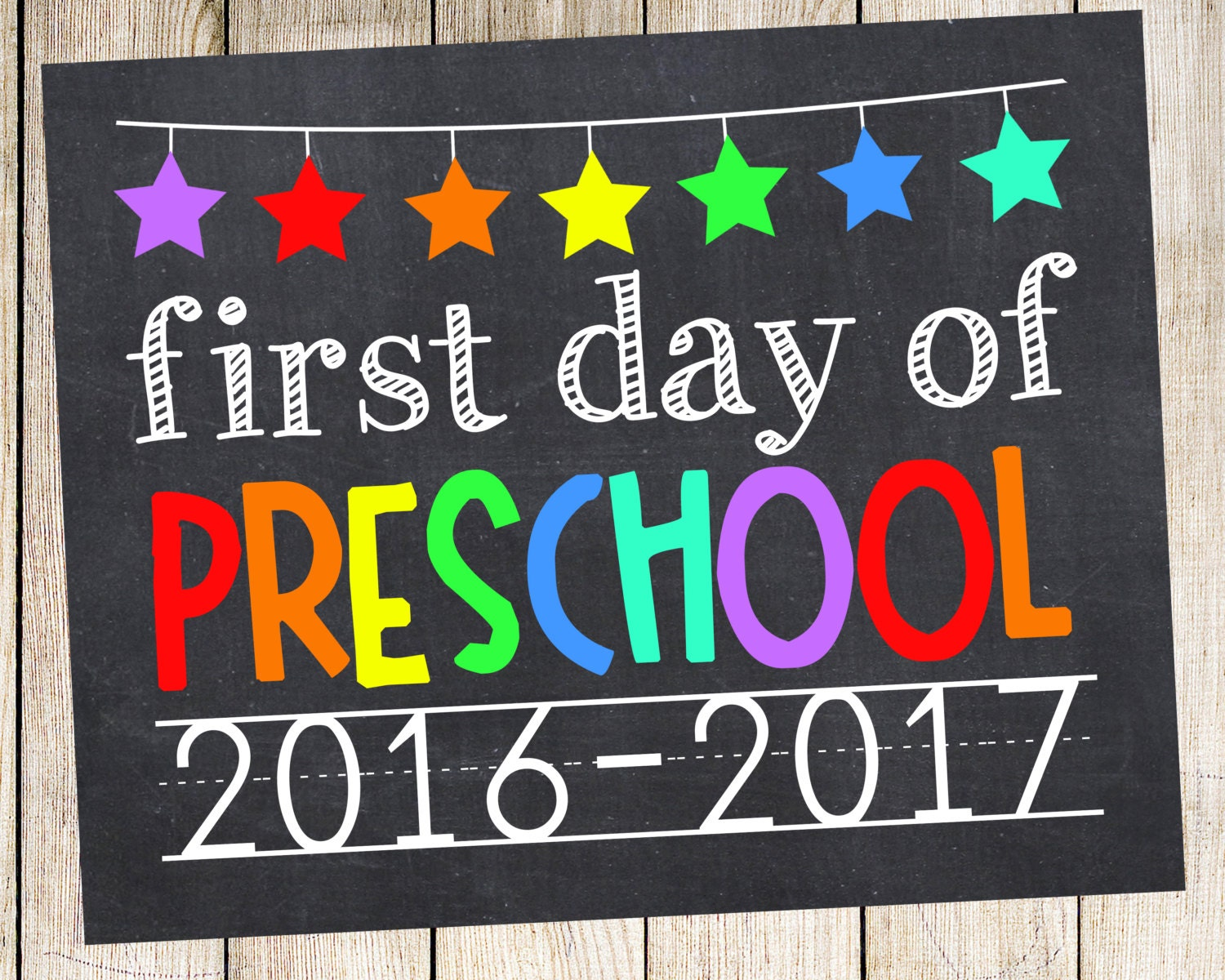 This is a photo of Unforgettable First Day of Preschool Printable