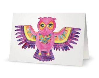 50% off EOFY SALE! -Free Post within Australia!- Boho Free Spirit Owl  Greeting Card