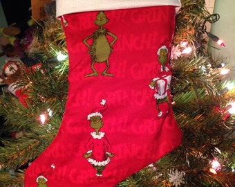Grinch Christmas Stocking - How the Grinch Stole Christmas