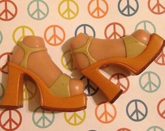 Replacement Bratz platform heels shoes for upscale custom prop accessory