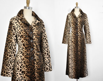 Vintage 90's Retro Club Kid Leopard Print Fuzzy Jacket