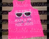 Shades On Top Back Comfort Colors Tank