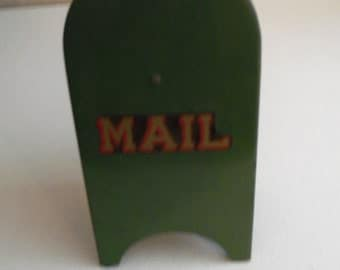 All American Vintage Metal Mail Box Bank