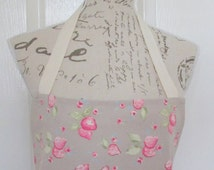 Full Apron for Women, Cotton Apron , Strawberries Print, Mother's Day Gift, Housewarming, Cooking, Baking, Birthday Gift, Gift for Friend