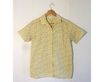 floral summer button-down shirt