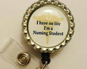 Nursing Student  Retractable Badge Holder