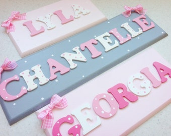Childrens personalised name plaque/sign wooden letters Handmade