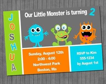 FLASH SALE 50% OFF Monster Birthday Invitation