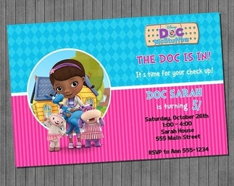 LIMITED TIME 40% OFF Doc McStiffins Invitation