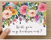 Will you be my bridesmaid card / wedding stationary / bridesmaid / will you be my bridesmaid hand lettering