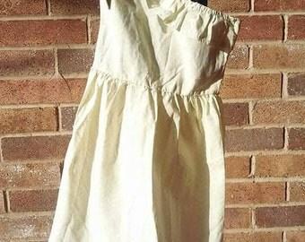 Yellow Chevron One shoulder dress