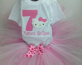 Hello Kitty Birthday/Hello Kitty/Girl shirt