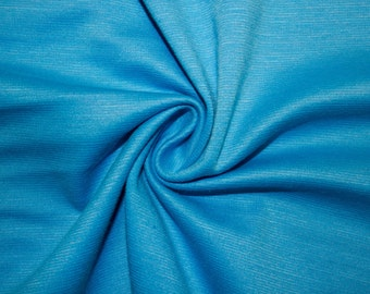 """Turquoise Ponte Di Roma Double Knit Polyester Spandex Lycra Stretch Medium Weight Apparel Craft Fabric 58""""-60"""" Wide By The Yard"""