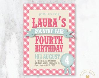 Country Fair Birthday Printable Invitation